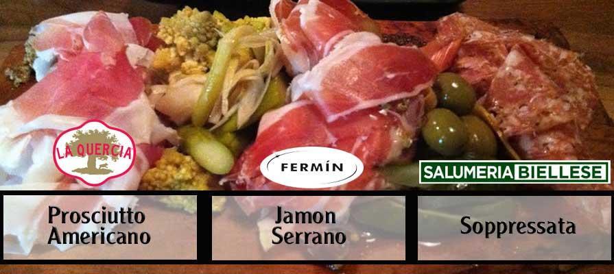 The Butcher Block - Jamon Serrano, Soppressata, Prosciutto Americano