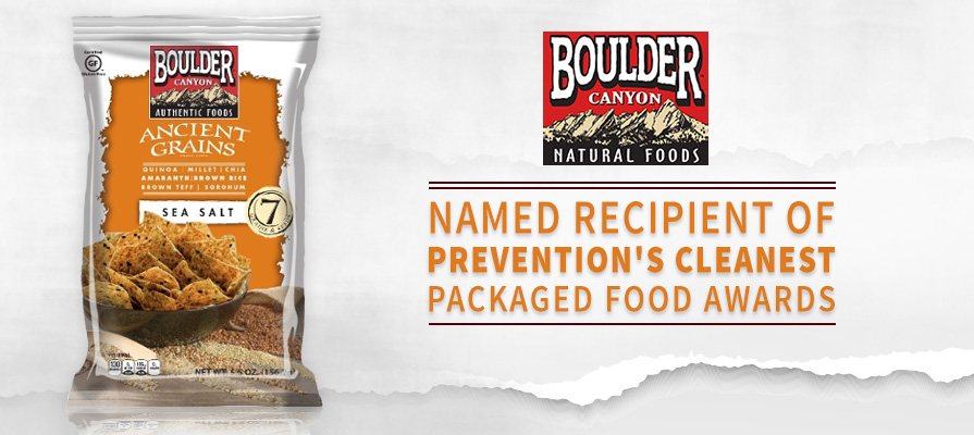 Boulder Canyon Authentic Foods Named Recipient of Prevention's Cleanest Packaged Food Awards