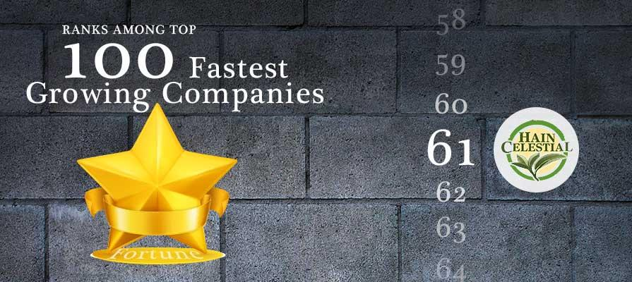 Hain Celestial Ranks Among Fortune's Fastest Growing Companies