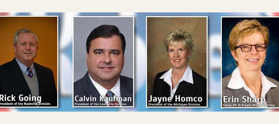 Kroger Announces New Senior Leadership with Rick Going, Calvin Kaufman, Jayne Homco and Erin Sharp