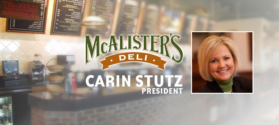 McAlister's Deli Names Carin Stutz as President