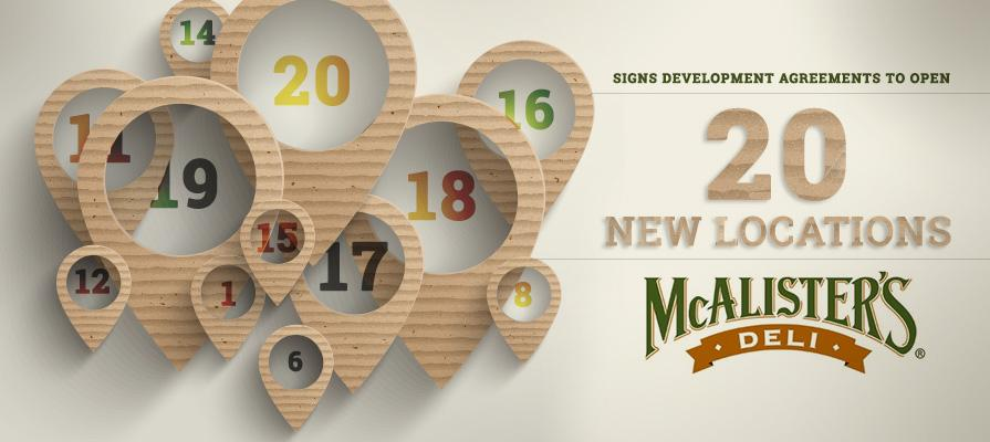 McAlister's Deli Signs Development Agreements to Open 20 New Locations