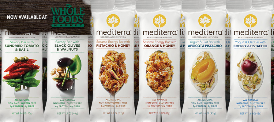 Mediterra<sup>&reg;</sup> Nutrition Bars Make Whole Foods Market Debut